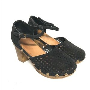 Eric Michael suede perforated clogs